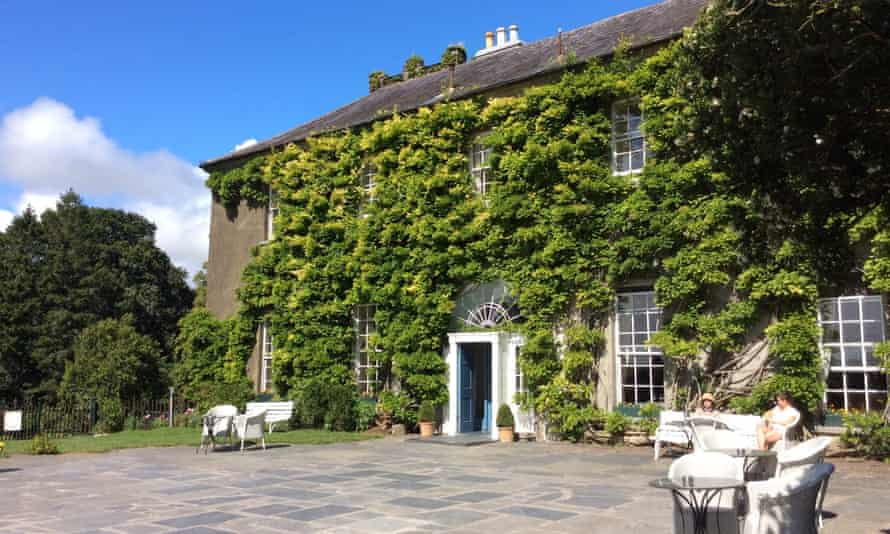 The Georgian frontage, covered in ivy, of Ballymaloe House