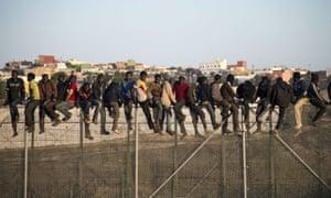 People on Europe's border.