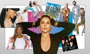 Clockwise from top left: Arca; Haim; Disclosure; Biffy Clyro; Fontaines DC; Jessie Ware; Brandy.