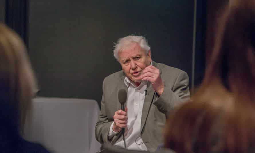 Sir David Attenborough addresses the UK Climate Assembly on January 25, 2020 in Birmingham, England.