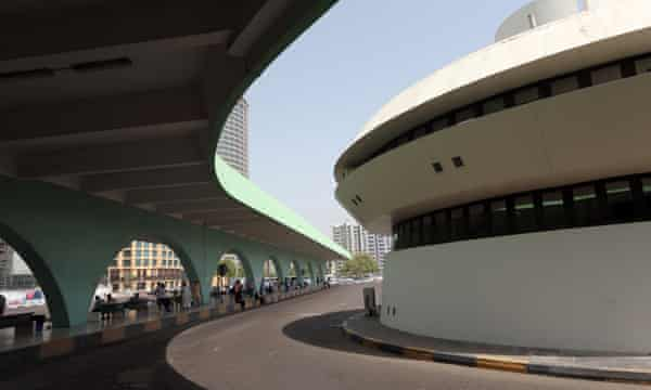 The main bus station in Abu Dhabi.