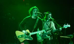 'A well-oiled outfit who can step on the gas': Jack White (front) of the Raconteurs on stage in London