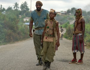 Abraham Attah, centre, in Beasts of No Nation.