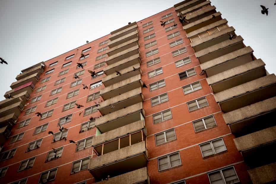 Flats in the Carlton Housing Estate.