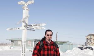 Nagruk Harcharek in Utqiaġvik, Alaska. Nagruk is the station manager at the Barrow Arctic Research Center and has lived in Utqiaġvik all his life.
