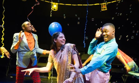 Tendayi Jembere and Natalie Dew in Romeo and Juliet at the Shed in 2013.