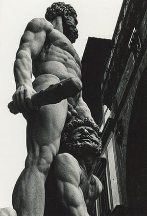 Now In the PastAdel Gorgy 'This embodies the Olympic body of physical muscle that romances male power, patriarchal demigods and domination of one over the other. A classical representation of the hegemony dialogue. The victor stands tall and the vanquished on his knees in the shape of defeat begging for his life. The Greek tragedy in this composition is that man is portrayed physically equal like the gods, but theruler holds a weapon, a Neanderthal club.'