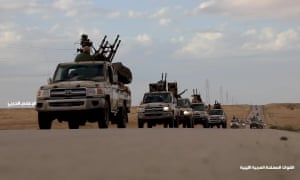 A video on the Libyan National Army Facebook allegedly shows military convoys heading towards Tripoli.