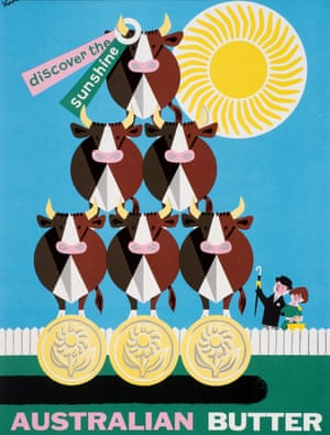 Australian Butter, poster for the Australian Trade Commission, 1962 by George Him.