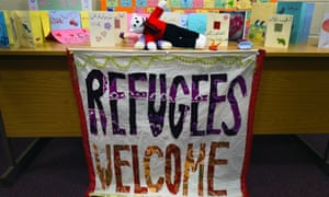 Welcome cards and posters for Syrian refugees in Belfast