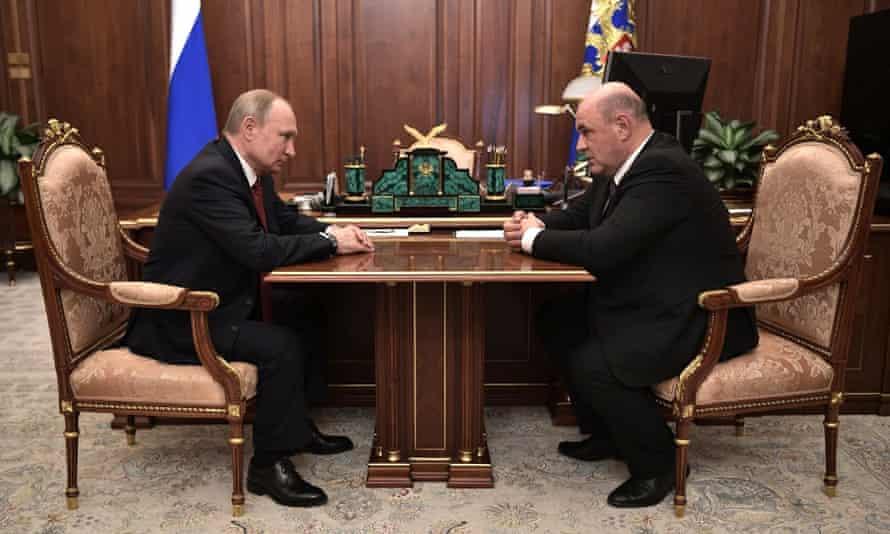 Vladimir Putin and Mikhail Mishustin