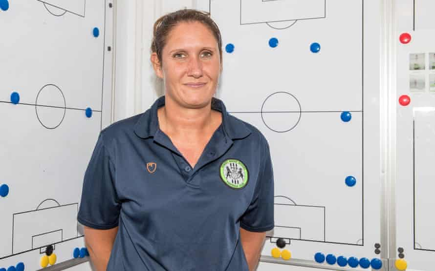 Forest Green's academy manager, Hannah Dingley, says: 'You've seen players banned for saying things they didn't even know were discriminatory.'