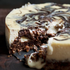 Nigel Slater's chocolate peanut butter cheesecake