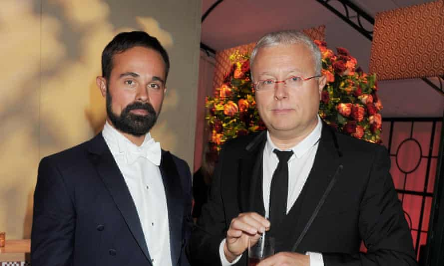 Evgeny Lebedev, left, and his father Alexander