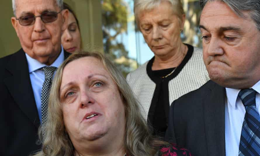 The mother of Courtney Topic, Leesa Topic (left) speaks to the media outside the NSW Coroner's Court after the inquest into Courtney's shooting death by police.