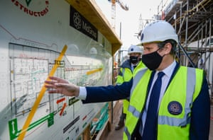 Sir Keir Starmer on a visit to construction works at the Boat Yard in Bristol.