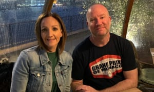 Sharon at a restaurant with her husband Chris before the lockdown.