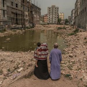 Rahela Begum and Fajlul Haq Khan return to the site where their son Fazle Rabbi died, aged just 20.