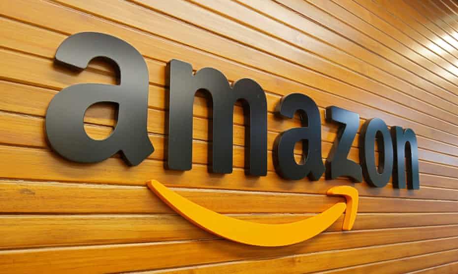 Amazon logo inside a building