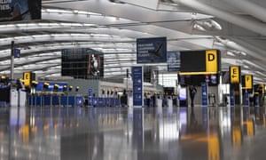 A quiet Heathrow Terminal 5.