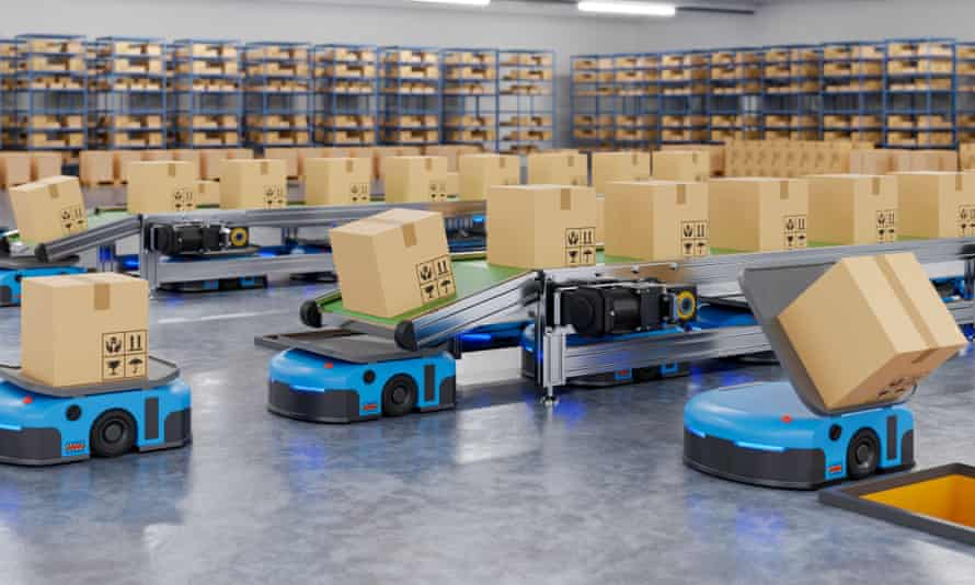 Robots at a distribution centre
