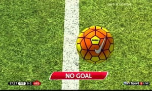 Grab from BT Sports coverage of Tottenham Hotspur v Arsenal showing that Harry Kane's shot saved by Ospina didn't cross the line.