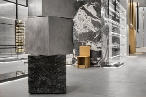 James Balmforth's Surface Response (Stack) in the New York Madison store: stainless steel, mild steel and slag.