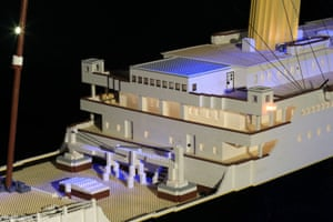 A detail from the Lego model of the Titanic.