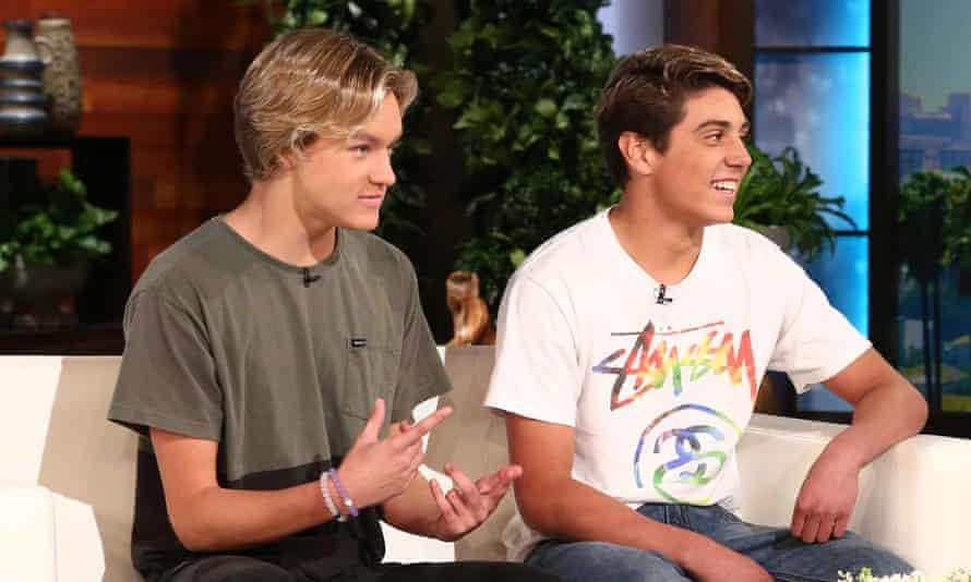 Josh Holz (L) and Daniel Lara (R) on the Ellen DeGeneres Show.