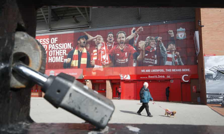 The locked gates at Anfield
