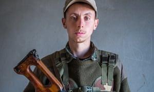 Dean Carl Evans in Syria in his uniform.