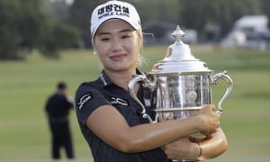 Jeongeun Lee6 collected a $1m prize as well as the US Open trophy.