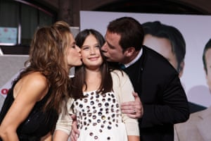 Preston, Travolta and their daughter Ella Bleu Travolta at the world premiere Old Dogs in 2009 in Los Angeles.