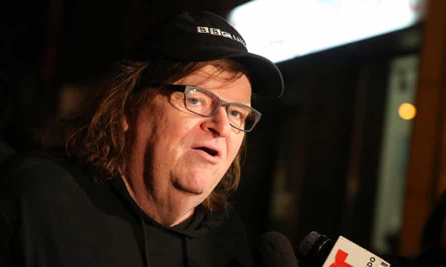 Michael Moore at the New York premiere of Michael Moore in TrumpLand