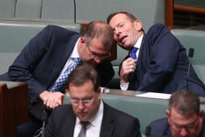 Tony Abbott during question time in the House of Representatives