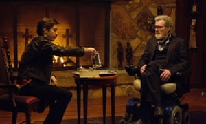 Justin Long and Michael Parks in Kevin Smith's Tusk.
