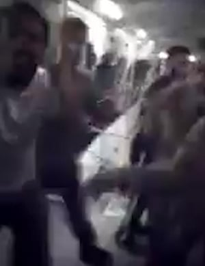 An unverified video of the riot at Bedford prison, posted on social media on 7 November 2016.