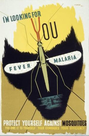 A 1941 British poster warning against malaria.