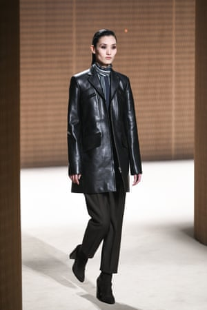 A model on the Hermès catwalk.