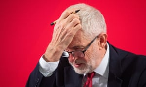 Doing the maths: Jeremy Corbyn struggles to add up Labour's lost votes.