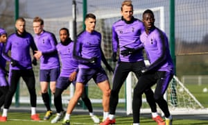 Tottenham Hotspur players training in Enfield