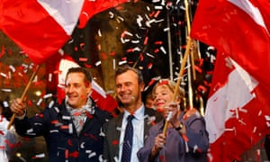 Norbert Hofer during the final election rally in Vienna.