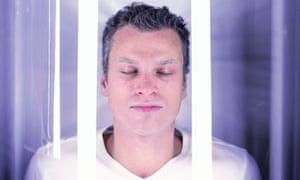 A man inside a cryogenics chamber