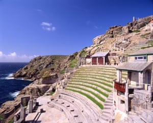 The outdoor Minack theatre in Penzance, Cornwall
