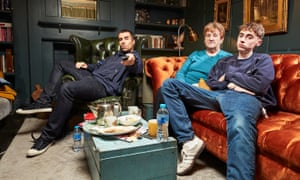 Liam Gallagher, his mother Peggy and his son Gene on Channel 4's Gogglebox.