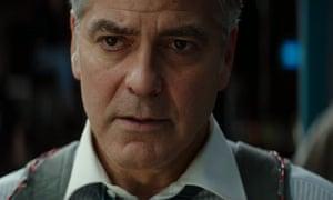 Mind the gap ... George Clooney taken hostage in trailer for Money Monster.