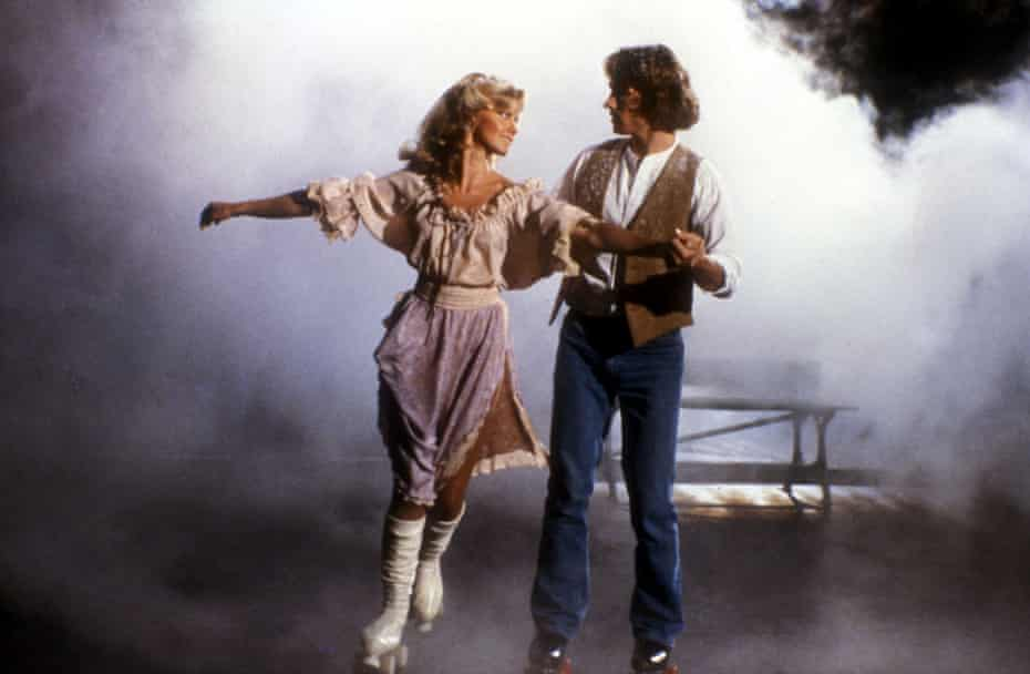 Newton-John with Michael Beck in 1980's Xanadu