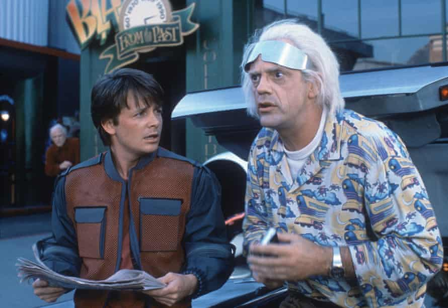 With Michael J Fox in Back to the Future 2.