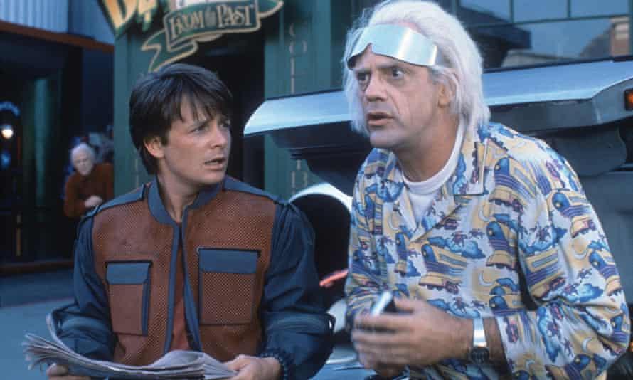 کریستوفر لوید در Back To The Future II با بازی Michael J Fox.