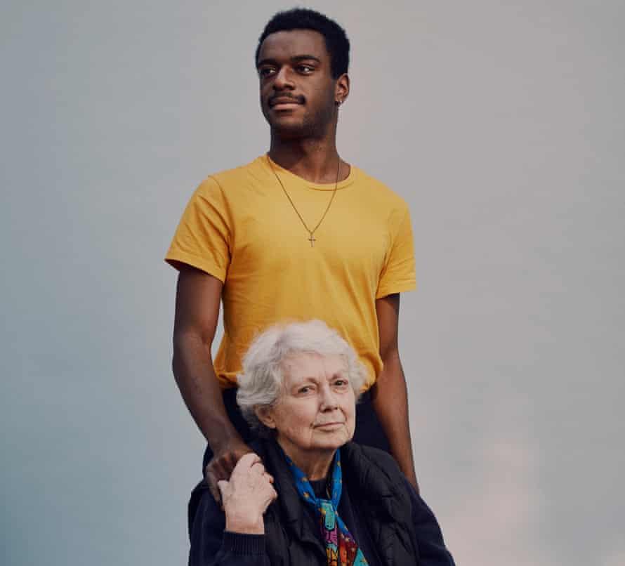 Tochi Onuora, 20, and Jean Thomson, 90